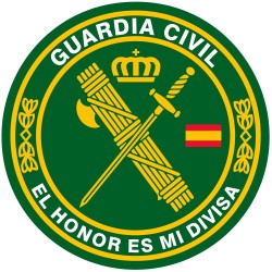 "Pegatina Círculo Guardia Civil ""El honor es mi divisa"""