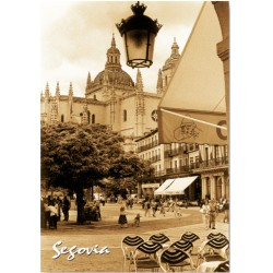 Postal Plaza Mayor Segovia SEPIA