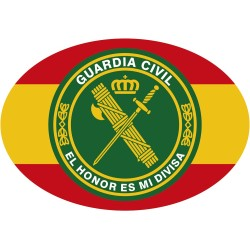 Pegatina Oval España Círculo Logotipo Guardia Civil