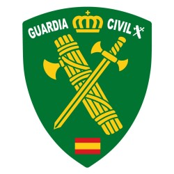 Pegatina Escudo Verde Guardia Civil