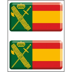 Pegatina Rectángulo 2 uds. Guardia Civil RESINA