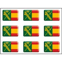 Pegatina móvil 9 uds. Guardia Civil RESINA