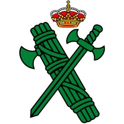 Pegatina Logotipo verde Guardia Civil