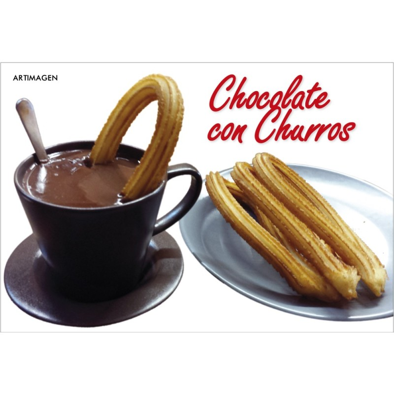 Postal Chocolate con Churros