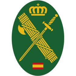 Pegatina Oval Verde Logotipo Guardia Civil