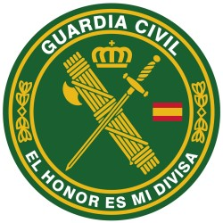 Alfombrilla, Mouse Pad  Textil 100% Poliéster Guardia Civil ø 20 cm.