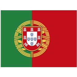Pegatina rectangular Portugal