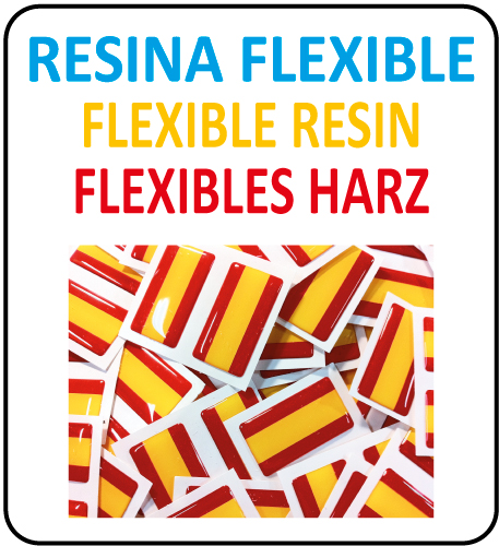 Pegatinas Resina Flexible